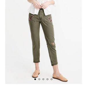 A&F Military Boyfriend Jeans